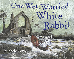 One Wet, Worried White Rabbit